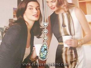 New JJ Judith Jack 925 Abalone Teardrop Necklace $195