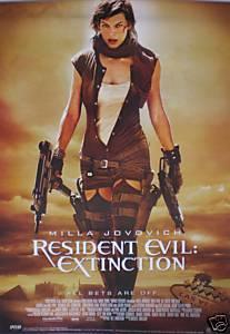 Resident Evil Extinction Poster Milla Jovovich 2 Guns
