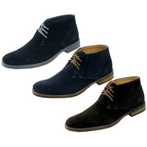 Calvin Klein Mens Warren Laceup Suede Casual Boot F4484 Oxford Brown Navy Black