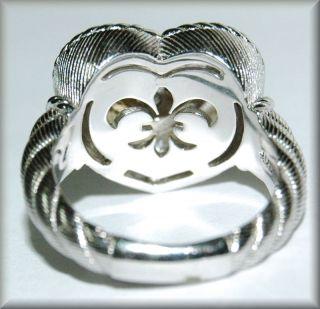 Judith Ripka Signature Heart Sterling Silver w Gold Accent Diamonique CZ Ring