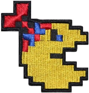 Pacman Junior Embroidered Patch Pac Man Ghost Blinky Inky Mr MS Pixel