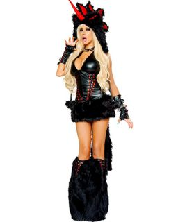 Womens Sexy Deluxe Josie Loves J Valentine Black Magic Unicorn Costume