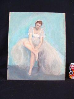 Antique Joseph Newman Impressionist Ballerina Painting