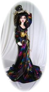 OOAK ON FIRE FOR 17 EVANGELINE GHASTLY by Judy