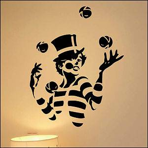 Juggler Juggling Vinyl Wall Art Sticker Children's Kids Bedroom Decal