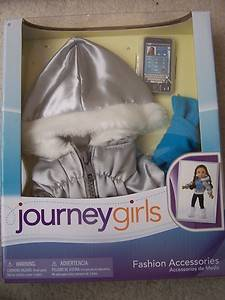 NEW Journey Girls 18 Doll Clothes Silver Coat Scarf Phone Fits American Girl