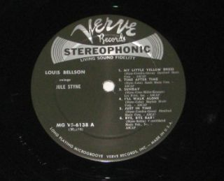 "Louis Bellson ""Swings Jule Styne"" Verve Records Jazz Drumming Vinyl LP Classsic"