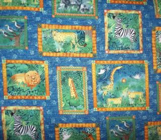 Half Yard Jungle Voices V I P by Cranston 100 Cotton Fabric