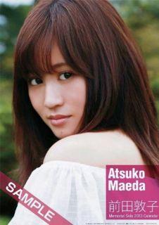 AKB48 Atsuko Maeda Idol Official Japan Limited Photo Solo Calendar 2013 RARE New