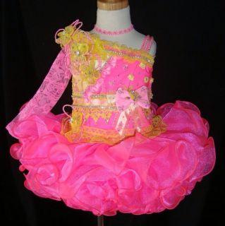 Glitz Pageant Dress 2T 3T 4T Slim 5T