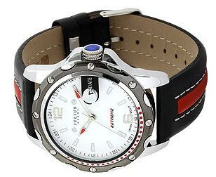 Julius Homme Genuine Leather Men s Watch Red Line Top Quality