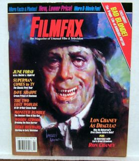 Filmfax Magazine 71 June Foray Lon Chaney Superman