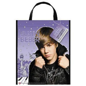 Justin Bieber 13 Purple Tote Bag Birthday Party Favors Trick or Treat