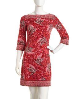 Julie Dillon Bird Print Jersey Dress