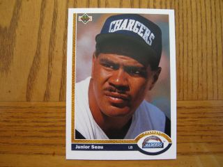 1991 Upper Deck Junior Seau Chargers Card 343