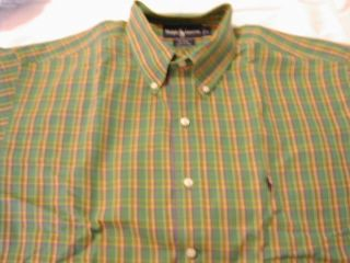 lauren POLO Blaire size L Green Plaid Long sleeve button down shirt