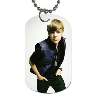 New Justin Bieber Dog Tag Chain Necklace Hot