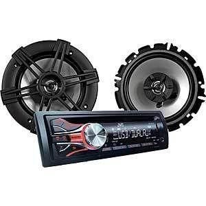 JVC KD PKR430 Combo CD Reciever Speaker System Car Stereo