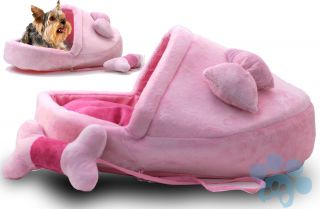 Pink Slipper 24 PET BED small dog or cat + 8 Plush toy  Warm & Cozy