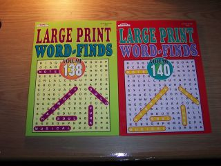 New 2 Large Print Word Find Puzzle Book by Kappa Books