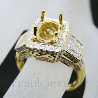 Oval 7x9mm 18kt Yellow Gold Diamond Semi Mount Engagement Wedding Ring