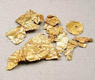 Roman Era High Karat Gold Jewelry Parts Circa 200 to 400 Ad