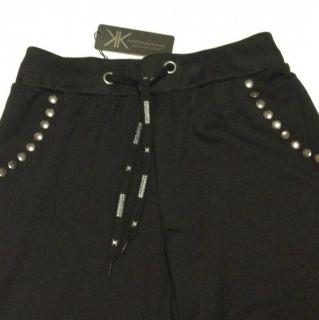 Kardashian Kollection sweat Pants Black Studded Sz XS