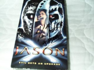 VHS Friday The 13th Horror Kane Hodder Signed 794043562532