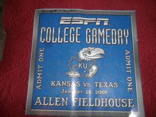 RARE 2004 5 KANSAS JAYHAWK AUTOGRAPHED TEAM ESPN COLLEGE GAME DAY