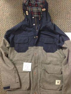 Bodega x Penfield Massachusetts USA Kasson Steel Grey Wool Jacket XL $