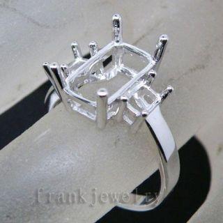 Stones 18kt White Gold Semi Mount Engagement Wedding Ring CT9