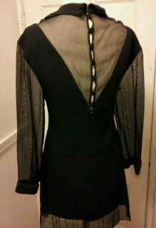 Karl Lagerfeld Chanel Mint Black Button Lolita Dress Vintage