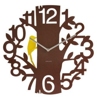 Woodpecker Wall Clock Karlsson for Present Time New Design Mothers Day