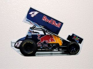 Kasey Kahne 4 Red Bull Dirt Sprint Car Fridge Tool Box Magnet Free s H