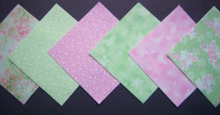 60 Bunny Love 4 Fabric Quilt Quilting Squares Cotton Fabric
