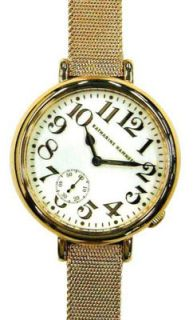 Katharine Hamnett White Dial Golden Steel Strap Ladies Watch KH7896