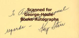 Kay Starr Autograph 1971 Glenn Miller