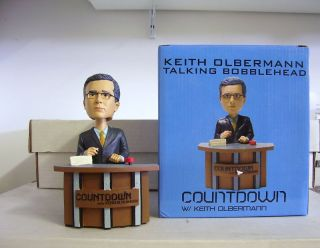 Keith Olbermann Talking Bobble Bobblehead MSNBC Promo