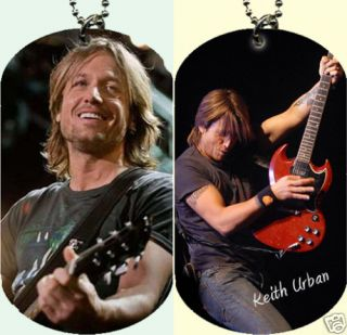 Keith Urban Dog Tag with Beaded Chain