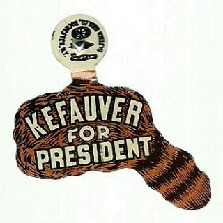 Kefauver for President Tennessee Coonskin Cap Political Tab