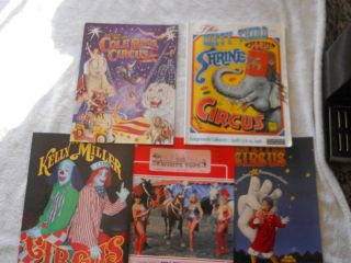 CIRCUS Programs Beatty Cole Bros Kelly Miller Big Apple Shrine etc VGC