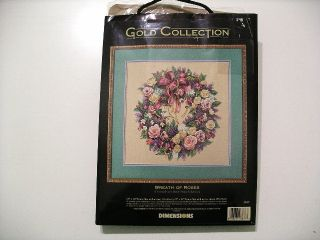 Dimensions Gold Collection Counted Cross Stitch Kit Wreath Of Roses