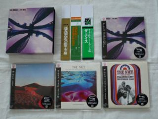 Nice Japan 4 Mini LP SHM CD SS Promo Box OBI Set Keith Emerson