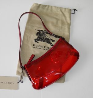 London Military Red Clear Mini Kensit Shoulder Sling Bag Handbag