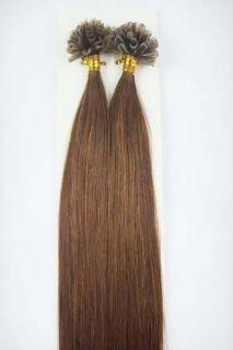 100S 18 Pre Keratin Nail Tipped Human Hair Extensions 06 Ash Brown 0