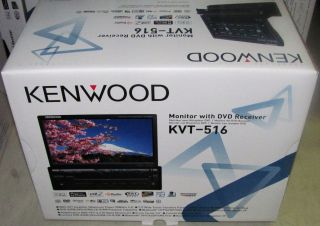 Kenwood KVT 516 in Dash 7 Flip Out Touchscreen Car DVD Head Unit