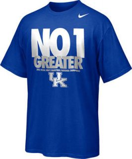 Kentucky Wildcats 2012 NCAA National Champions Nike NWT Medium M Tee T