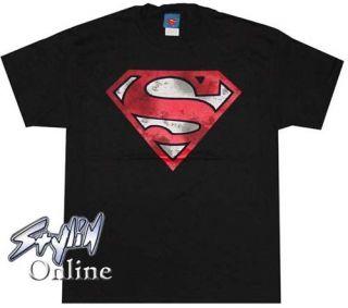 DC Comics Legend Superman Dirty s Logo T Shirt Med Kent