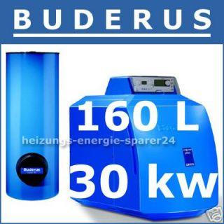 Buderus GB125 ÖL Brennwert Kessel EMS RC35 Speicher