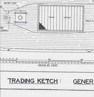 Trading Ketch Model SHIP Plans Underhill
